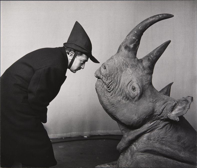 MEL_HALSMAN_Dali avec rhinoceros 1956 (c) 2013 Philippe Halsman Archive Magnum Photos_Images Rights of Salvador Dali reserved.jpg