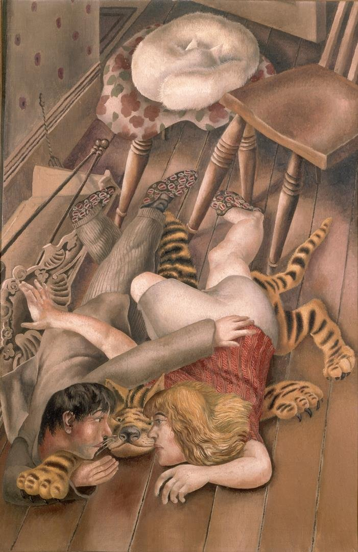 11. Stanley Spencer, The Tiger Rug, 1940, 92 x 61 cm, olieverf op doek, particuliere collectie - LR.jpg