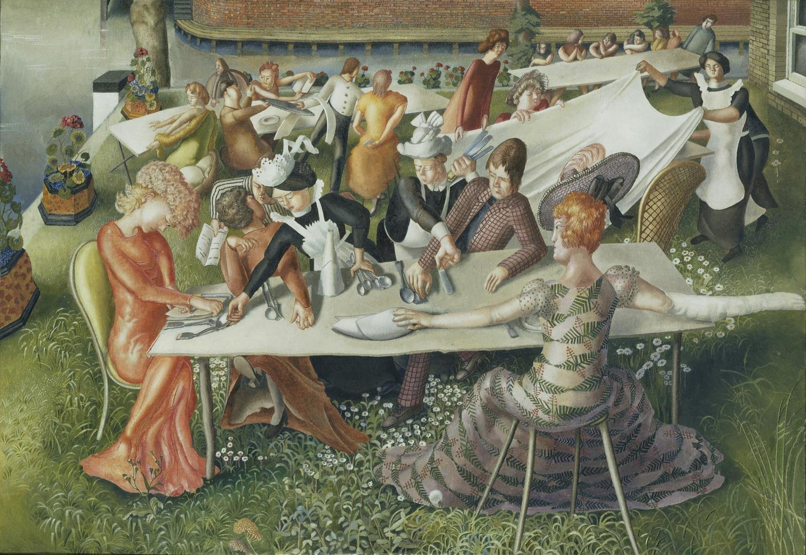 8. Stanley Spencer, Dinner on the Hotel Lawn, 1956-7, oil on canvas, 94.9 x135.9 cm - LR.jpg